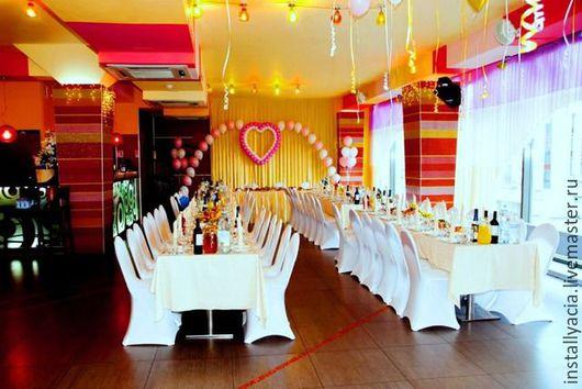 Свадебные цветы ручной работы. Ярмарка Мастеров - ручная работа. Купить Свадебный декор ресторана. Handmade. Ярко-красный, цветы