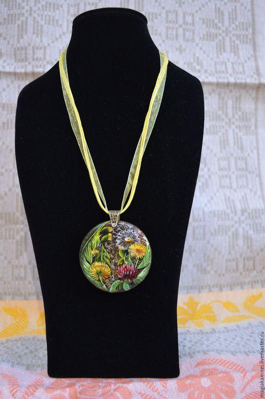 """Кулоны, подвески ручной работы. Ярмарка Мастеров - ручная работа. Купить """"Цветочный вальс"""". Handmade. Комбинированный, лаковая миниатюра, цветы"""