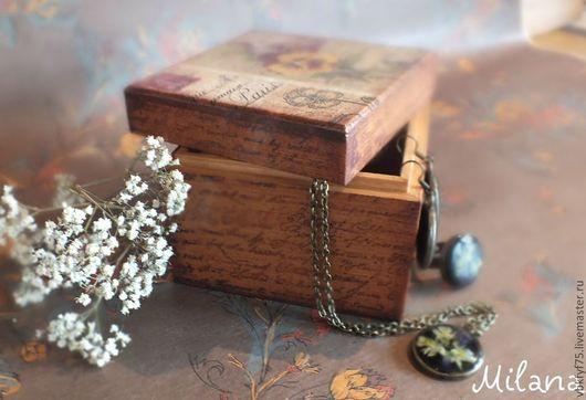 шкатулка декупаж, декупаж шкатулки, шкатулка в подарок, шкатулка из дерева, деревянная шкатулка, шкатулка для мелочей, маленькая шкатулка, квадратная шкатулка