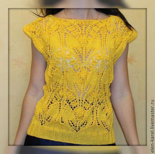 Кофты и свитера ручной работы. Ярмарка Мастеров - ручная работа. Купить Желтые Ландыши Летняя кофточка. Handmade. Желтый