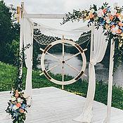Для дома и интерьера ручной работы. Ярмарка Мастеров - ручная работа Деревянная арка в морском стиле со штурвалом. Handmade.