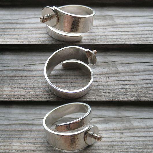 Для украшений ручной работы. Ярмарка Мастеров - ручная работа. Купить Кольцо с резьбой для сменных топов безразмерное. Handmade. Кольцо