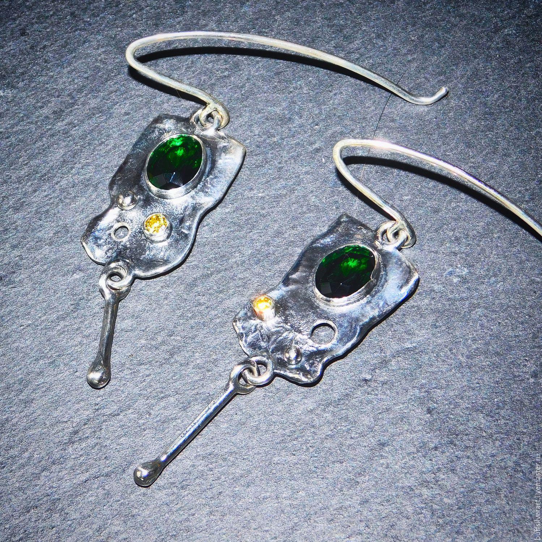 """Earrings """"Chartreuse"""", Earrings, Ekaterinburg,  Фото №1"""