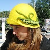 Аксессуары ручной работы. Ярмарка Мастеров - ручная работа Весёлая шляпка с горохом. Handmade.
