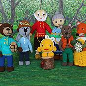 Куклы и игрушки handmade. Livemaster - original item Puppet theatre: Characters of the fairy tale Kolobok. Handmade.