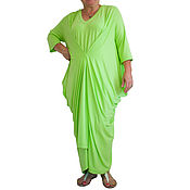 """Одежда ручной работы. Ярмарка Мастеров - ручная работа Платье макси, большое платье, платьe больших размеров """"SUNDAY FALL"""". Handmade."""