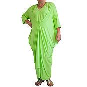 Одежда handmade. Livemaster - original item Maxi dress, big dress, big sizes