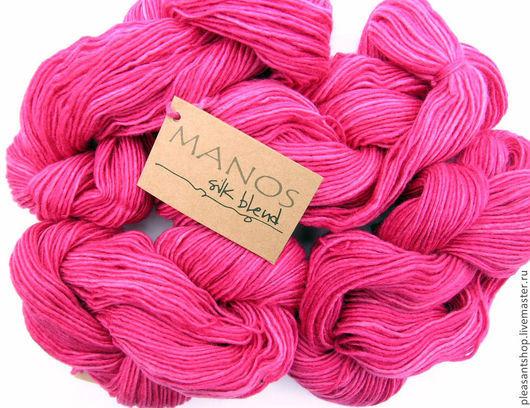 Вязание ручной работы. Ярмарка Мастеров - ручная работа. Купить Manos Silk Blend DK CARIBBEAN 2190. Handmade. Фуксия
