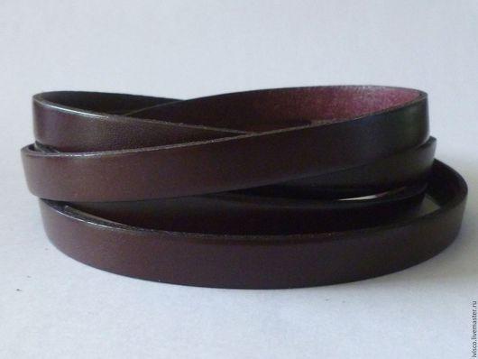 Для украшений ручной работы. Ярмарка Мастеров - ручная работа. Купить Кожаный шнур 10х2мм темно-бордовый матовый. Handmade.