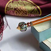 """Украшения ручной работы. Ярмарка Мастеров - ручная работа Шпилька, палочка для волос """"Шоколадная орхидея"""". Заколка канзаши.. Handmade."""