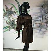 """Одежда ручной работы. Ярмарка Мастеров - ручная работа Платье из мягчайшей замши-стрейч """"Шоколадное"""". Handmade."""