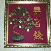 """Картины и панно ручной работы. Ярмарка Мастеров - ручная работа """"Денежное дерево """". Handmade."""