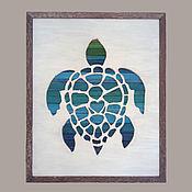 """Картины и панно ручной работы. Ярмарка Мастеров - ручная работа Панно """"Черепаха"""". Handmade."""
