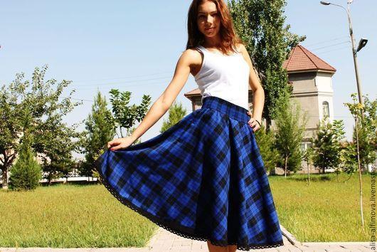 Юбки ручной работы. Ярмарка Мастеров - ручная работа. Купить Миди юбка с кружевом.. Handmade. Тёмно-синий, миди юбка