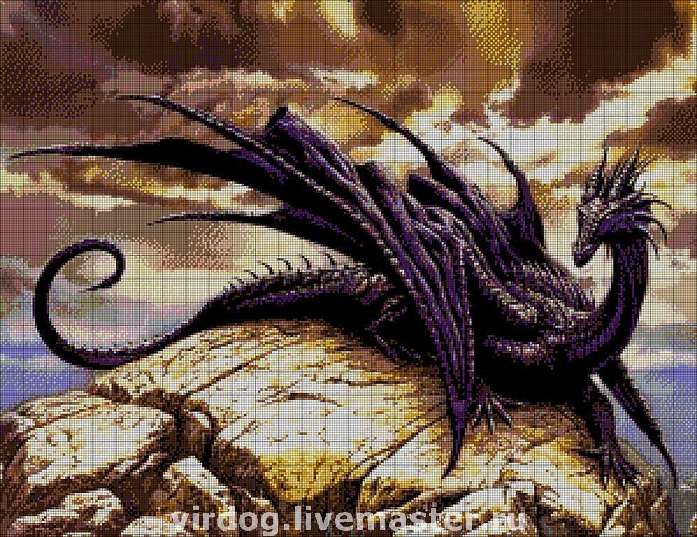 схемы драконов для вышивки бисером