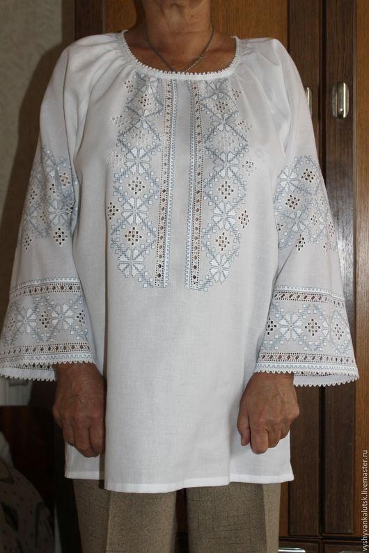 Этническая одежда ручной работы. Ярмарка Мастеров - ручная работа. Купить Блуза, вышивка, ручная работа. Handmade. Белый, орнамент