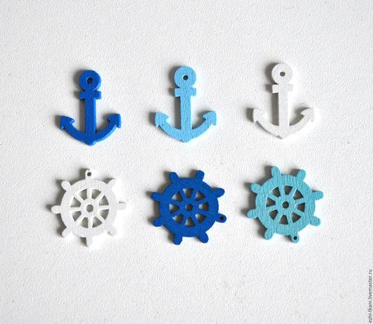 Шитье ручной работы. Ярмарка Мастеров - ручная работа. Купить Морская фурнитура. Handmade. Пуговицы, пуговицы для декора, якоря