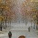 Город ручной работы. Заказать Авторская картина Первый снег.. Тарасов Владимир Авторская живопись. Ярмарка Мастеров. Масло