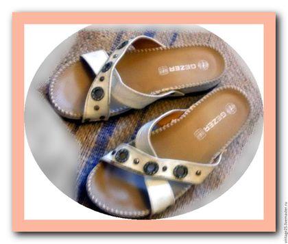 Винтажная обувь. Ярмарка Мастеров - ручная работа. Купить Винтаж. Сабо из натуральной кожи 37 размер. Handmade. Белый, сабо