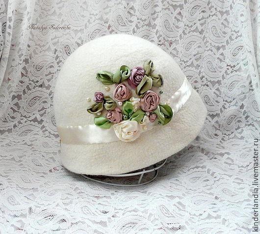 Шляпы ручной работы. Ярмарка Мастеров - ручная работа. Купить Шляпка Мадмуазель. Handmade. Бежевый, шляпка ретро, женская шляпка