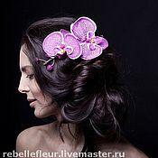 Украшения ручной работы. Ярмарка Мастеров - ручная работа гребень пятнистая орхидея. Handmade.