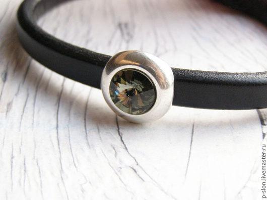 Для украшений ручной работы. Ярмарка Мастеров - ручная работа. Купить Бусина Swarovski для regaliz (регализ) black diamond. Handmade.