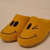 Обувь ручной работы. Ярмарка Мастеров - ручная работа Тапочки валяные - Смайлы. Handmade.