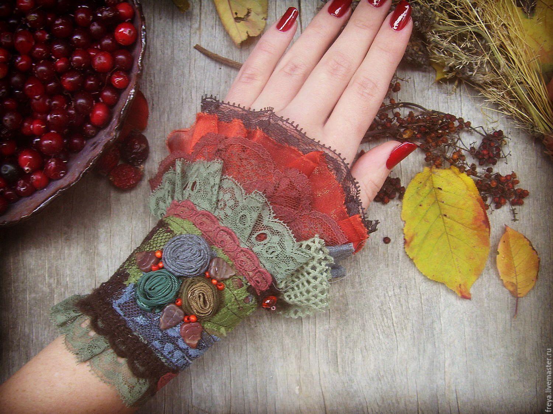 Текстильные браслеты в стиле бохо