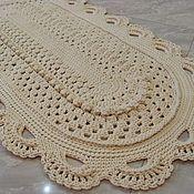 Для дома и интерьера handmade. Livemaster - original item Carpet, knotted cord Elegant oval-2. Handmade.
