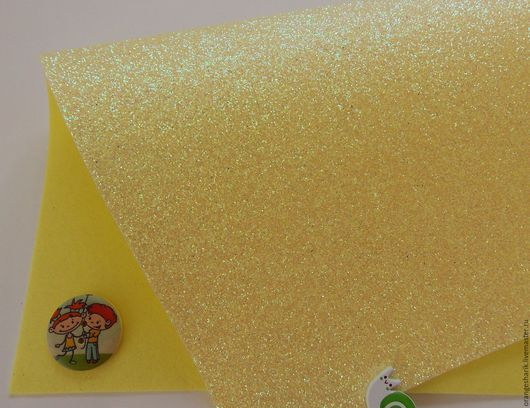 Другие виды рукоделия ручной работы. Ярмарка Мастеров - ручная работа. Купить Фетр корейский с блёстками Жёлтый. Handmade. Комбинированный