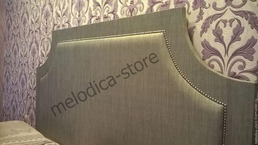 Мебель ручной работы. Ярмарка Мастеров - ручная работа. Купить Изголовье Cremona Silver. Handmade. Серебряный, двуспальная кровать, изголовье