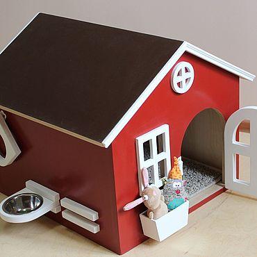 Товары для питомцев ручной работы. Ярмарка Мастеров - ручная работа Домик Будка для маленькой собаки. Handmade.
