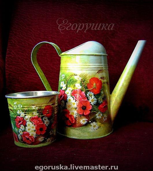 Watering Сans handmade. Livemaster - handmade. Buy Lake 'Summer mood'+pots as a gift.Lake, to give