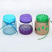 Подарки к праздникам ручной работы. Ярмарка Мастеров - ручная работа Новогодняя баночка для мелочей. Handmade.