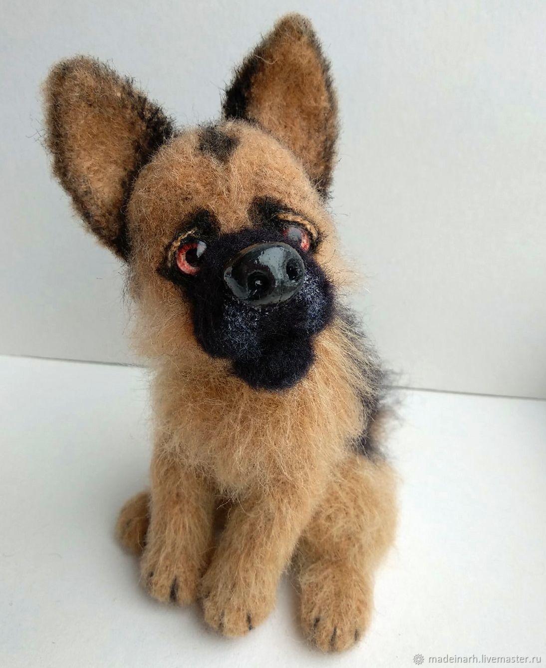 Shepherd. Knitted dog, Stuffed Toys, Arkhangelsk,  Фото №1