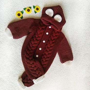 Товары для малышей ручной работы. Ярмарка Мастеров - ручная работа Комбинезоны: вязанный комбинезон для малыша. Handmade.