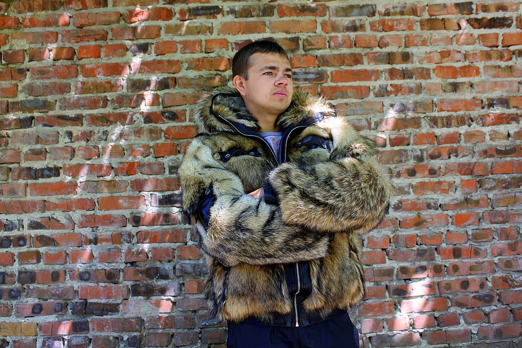 Coyote fur coat for men, Mens outerwear, Moscow,  Фото №1