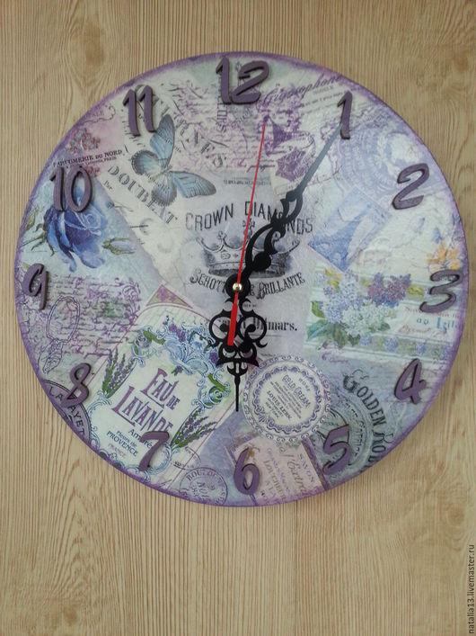 """Часы для дома ручной работы. Ярмарка Мастеров - ручная работа. Купить Настенные часы """"Прованс"""". Handmade. Сиреневый, прованс"""
