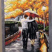 Картины ручной работы. Ярмарка Мастеров - ручная работа Картины: Под зонтом. Handmade.