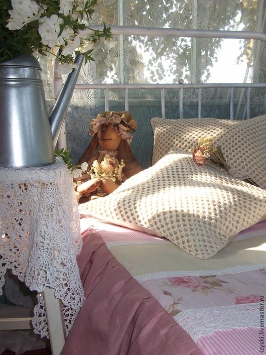 """Текстиль, ковры ручной работы. Ярмарка Мастеров - ручная работа. Купить Покрывало""""Зефирная сказка""""(шебби). Handmade. Бледно-розовый, покрывало в детскую"""