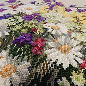 """Картины и панно ручной работы. Ярмарка Мастеров - ручная работа """"Полевые цветы"""" вышитая картина. Handmade."""