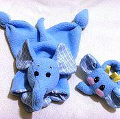 Куклы и игрушки ручной работы. Ярмарка Мастеров - ручная работа Комфортер слоненок. Handmade.