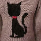 Одежда ручной работы. Ярмарка Мастеров - ручная работа Джемпер с кошкой. Handmade.
