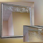 Для дома и интерьера ручной работы. Ярмарка Мастеров - ручная работа Зеркало настенное в раме ручная роспись. Handmade.