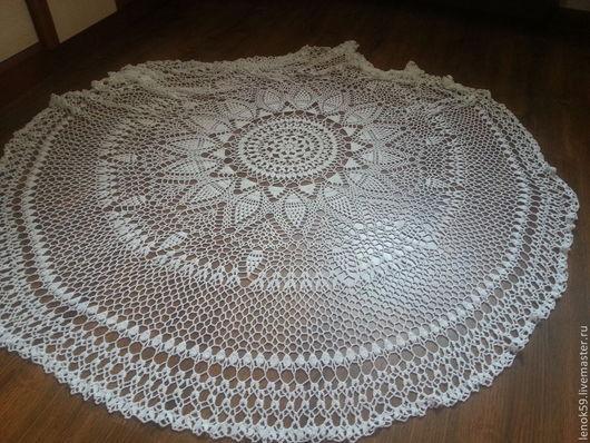 Текстиль, ковры ручной работы. Ярмарка Мастеров - ручная работа. Купить Скатерть ажурная. Handmade. Скатерть крючком белая