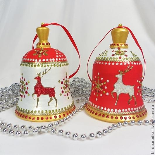 Новогодний колокольчик на ёлку.Ёлочное украшение.Подарок на новый год. № ( 1, 2 проданы)