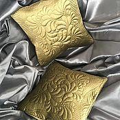 Для дома и интерьера handmade. Livemaster - original item Set of 2 quilted decorative velvet pillows. Handmade.