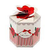 """Упаковочная коробка ручной работы. Ярмарка Мастеров - ручная работа Коробка """"С любовью"""",8 х 7см. Handmade."""