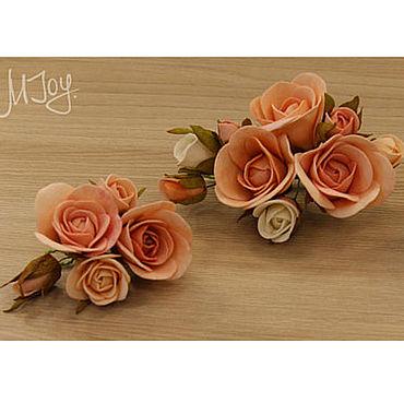 Свадебный салон ручной работы. Ярмарка Мастеров - ручная работа Комплект из 3 цветочных модулей из фоамирана для украшения прически. Handmade.