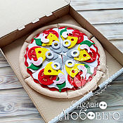 Куклы и игрушки handmade. Livemaster - original item Pizza out of felt Fruit pie - toy. Handmade.